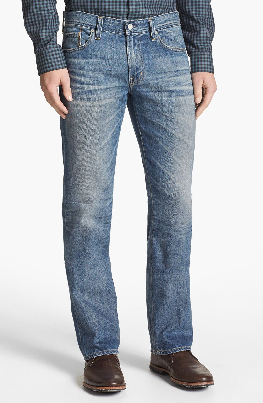 Alternate Image 1 Selected - AG 'Protégé' Straight Leg Jeans (16 Year Fuse)