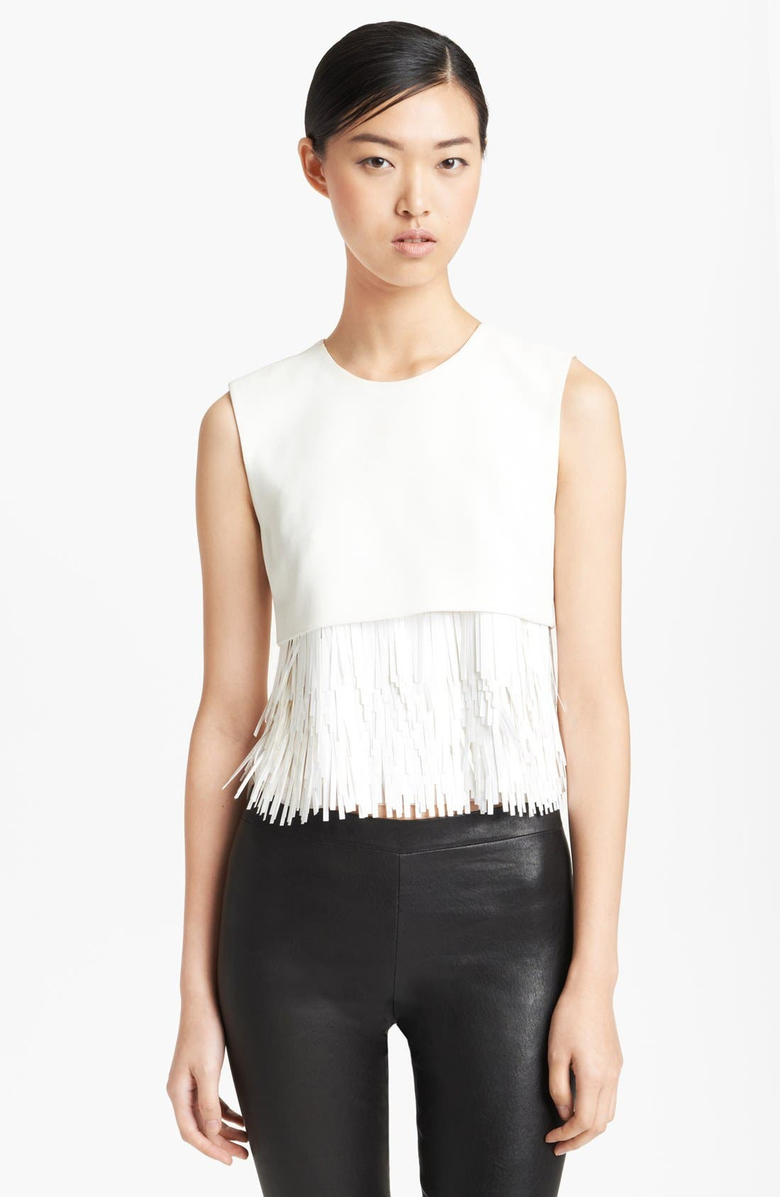 Alternate Image 1 Selected - Jason Wu Fringed Crepe Top
