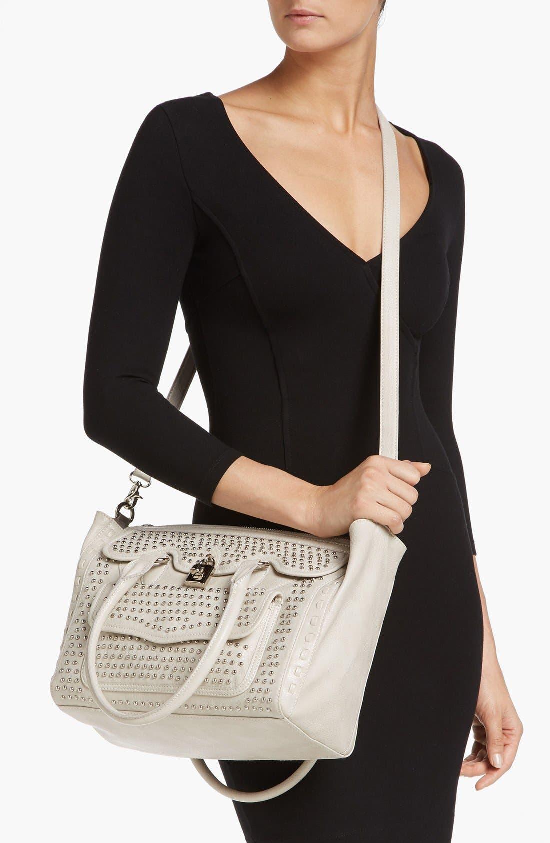 Alternate Image 2  - Jessica Simpson 'Madison' Pebble Studded Faux Leather Satchel