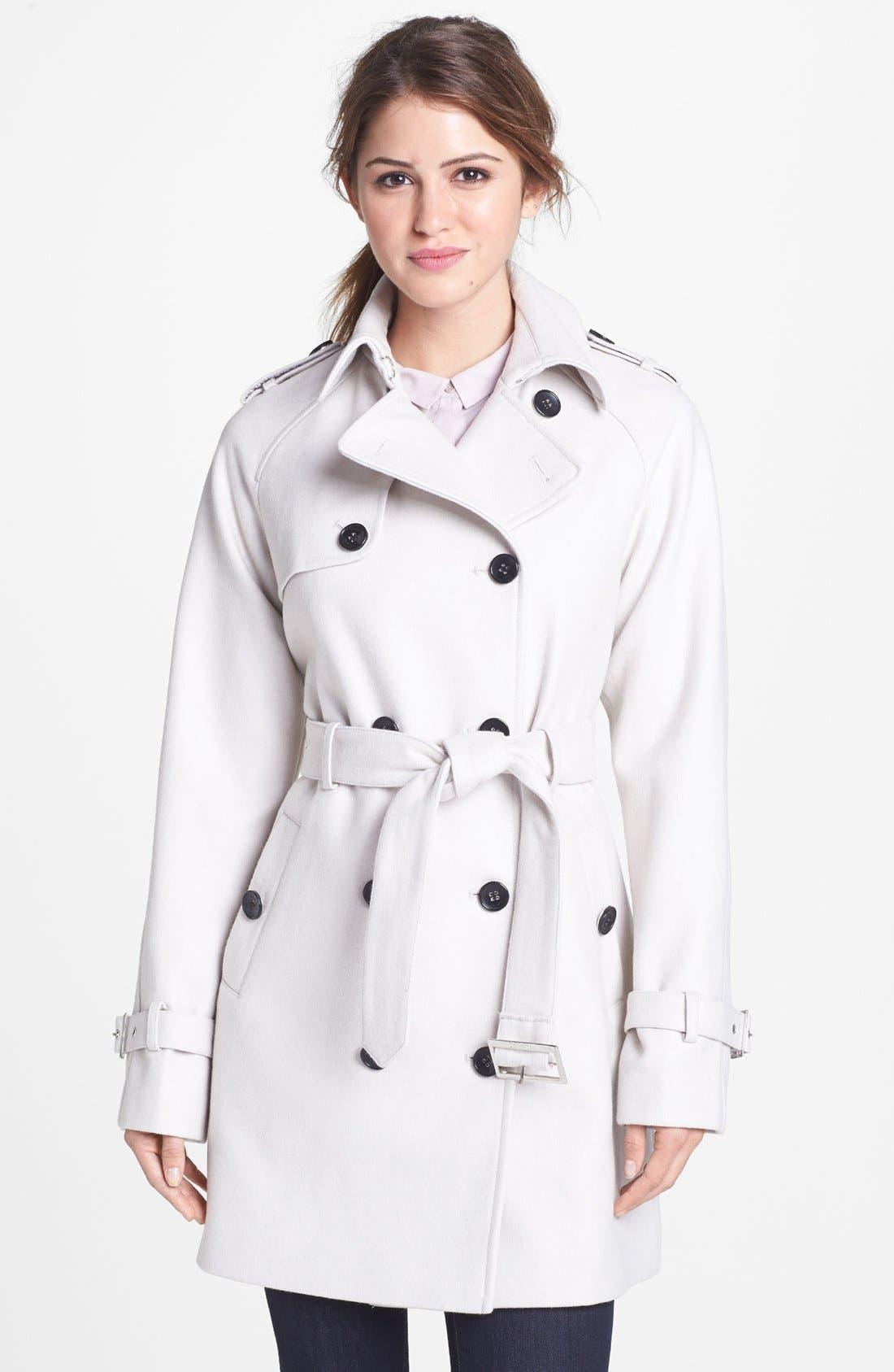 Alternate Image 1 Selected - Calvin Klein Wool Blend Trench Coat