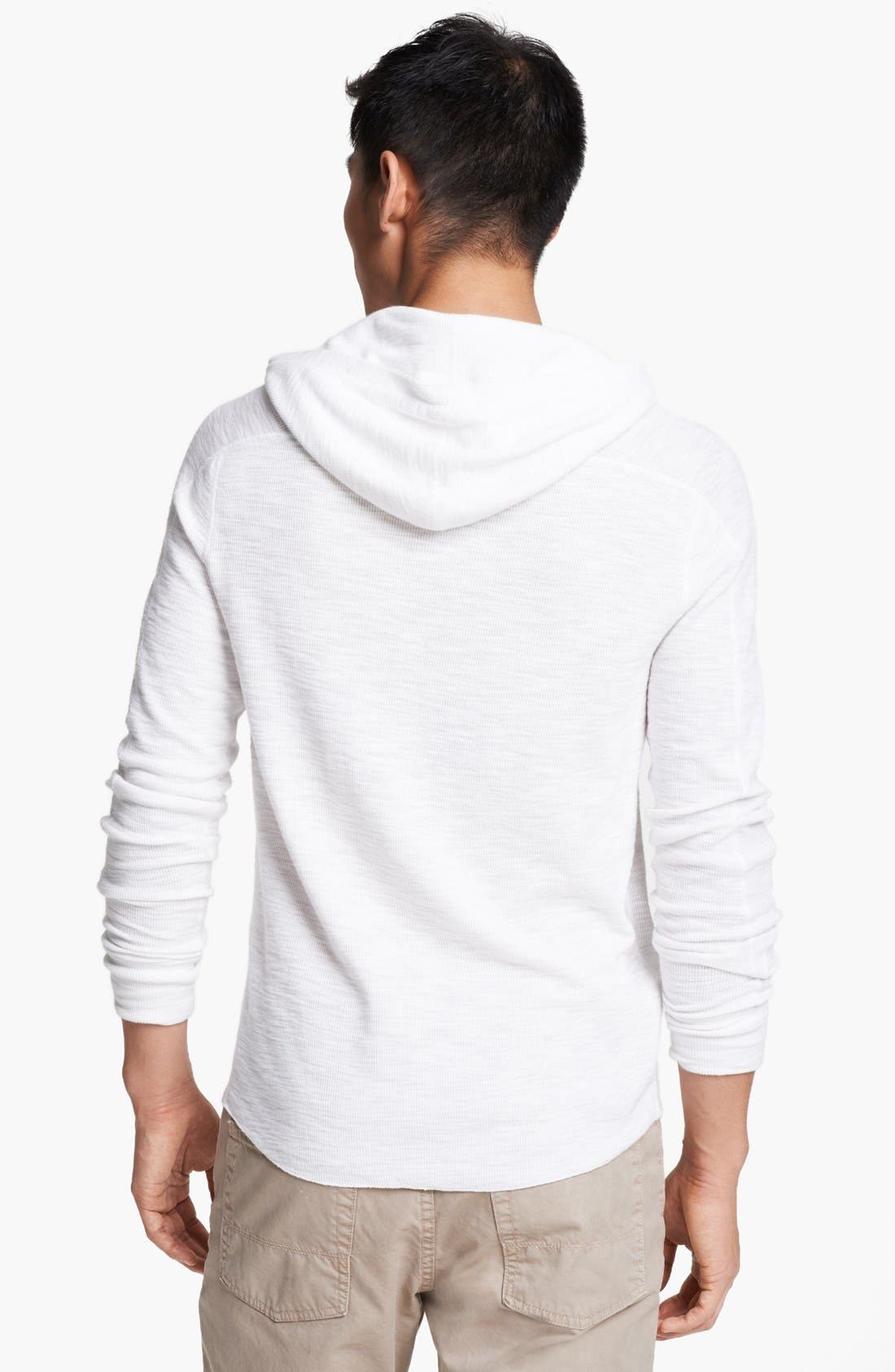 Alternate Image 2  - Vince Hooded Henley Thermal T-Shirt