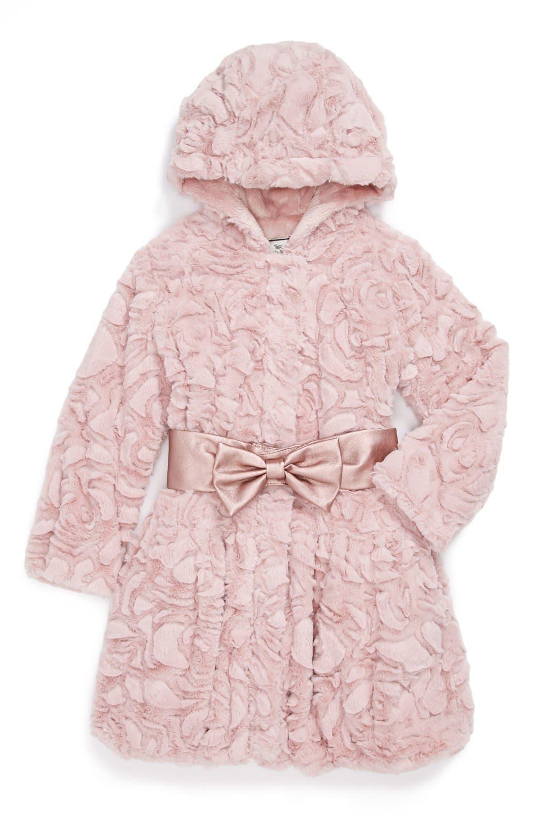 Alternate Image 1 Selected - Widgeon Faux Fur Coat (Little Girls)