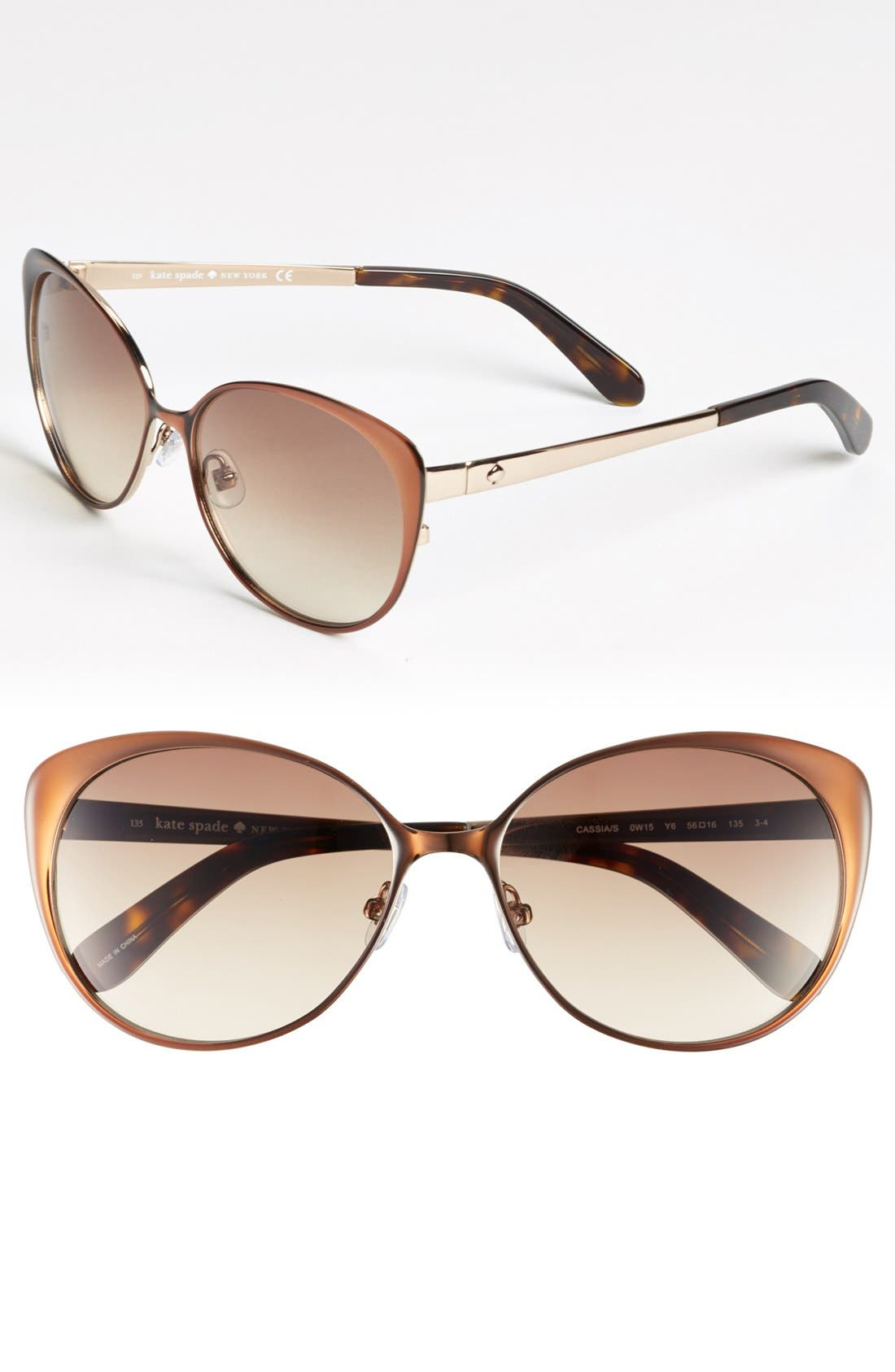 Main Image - kate spade new york 'cassia' 56mm metal cat eye sunglasses