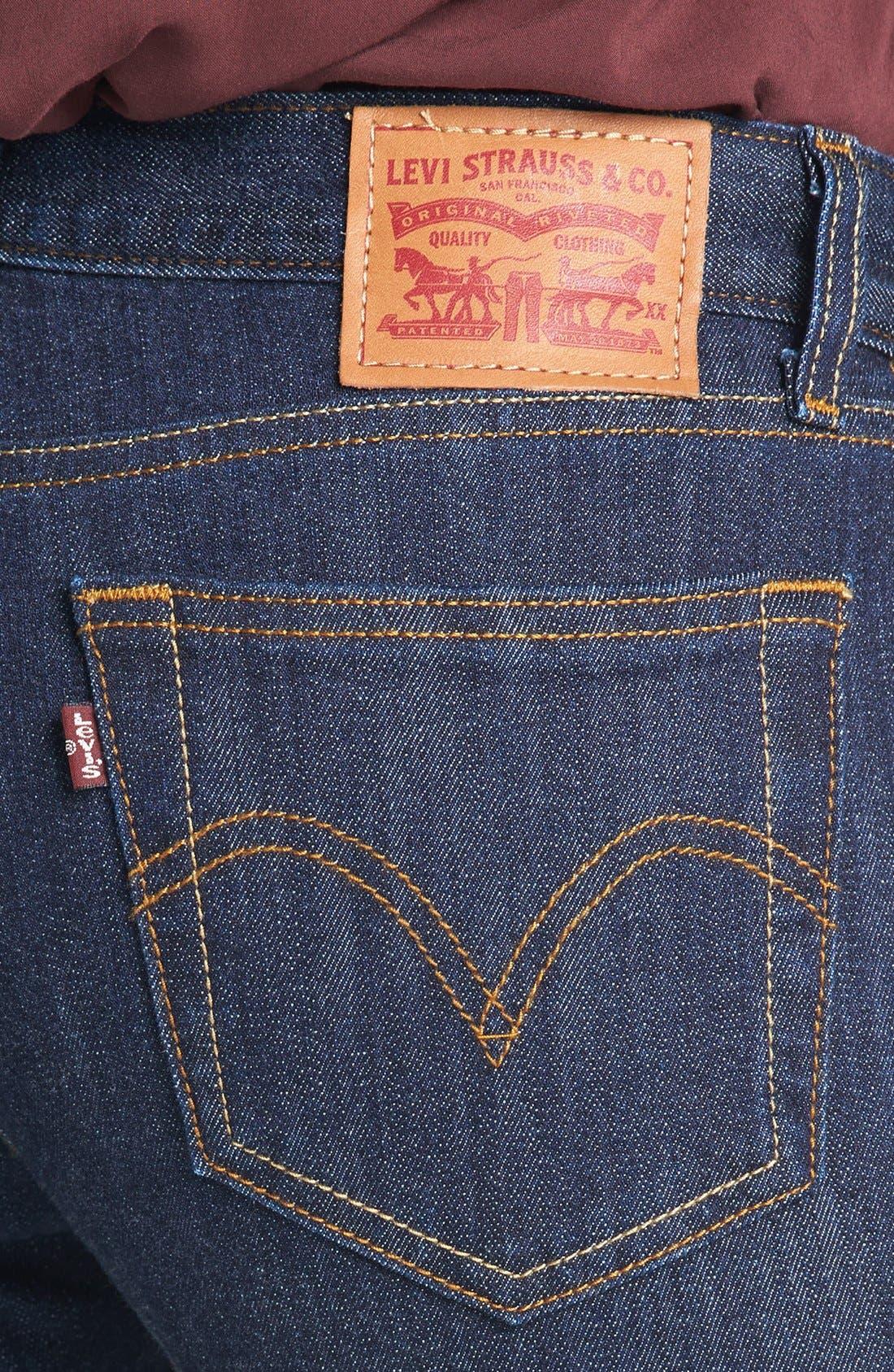 Alternate Image 3  - Levi's® High Waist Resin Rinse Selvedge Skinny Jeans