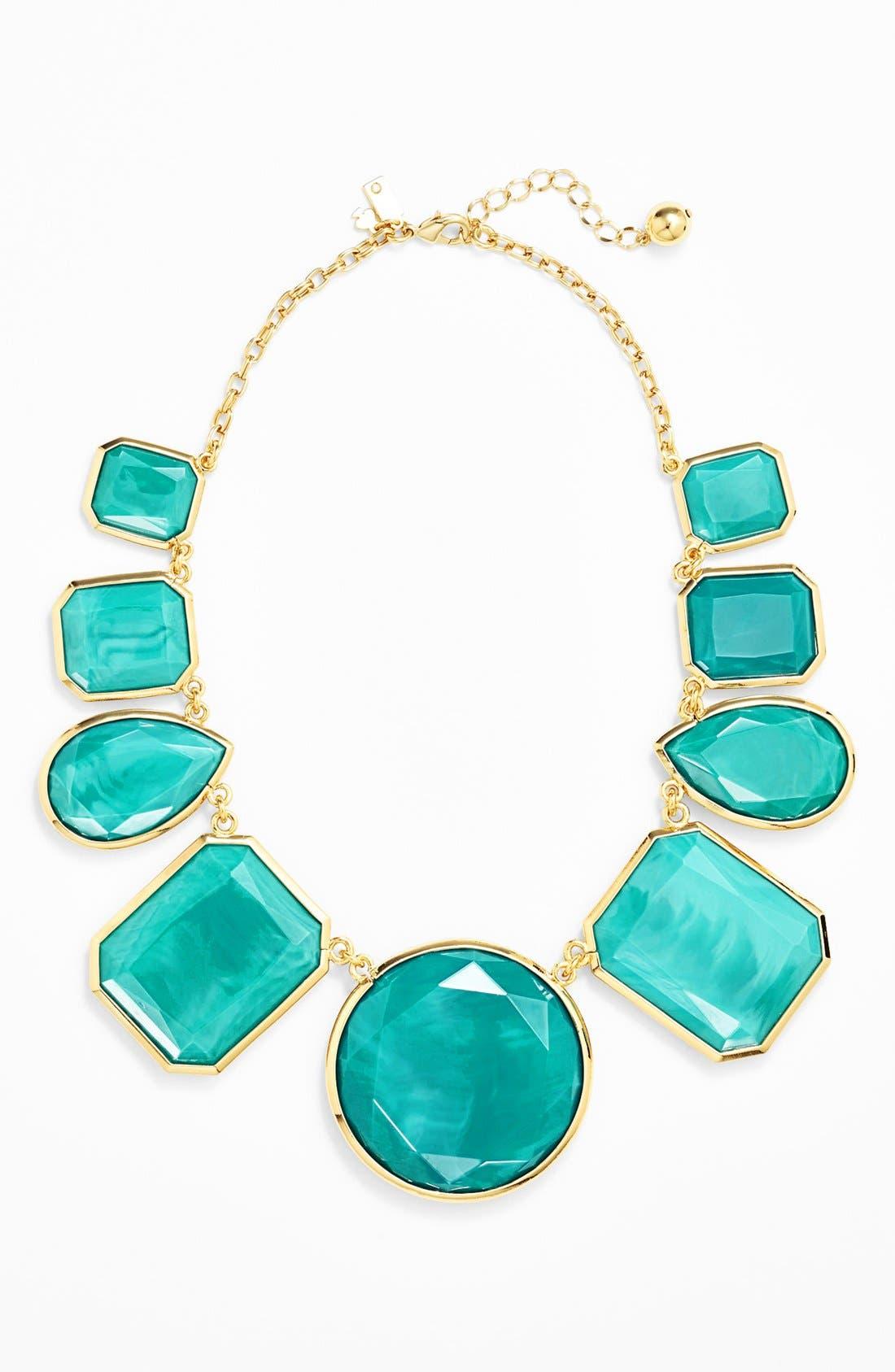 Main Image - kate spade new york 'swirl around' graduated stone necklace