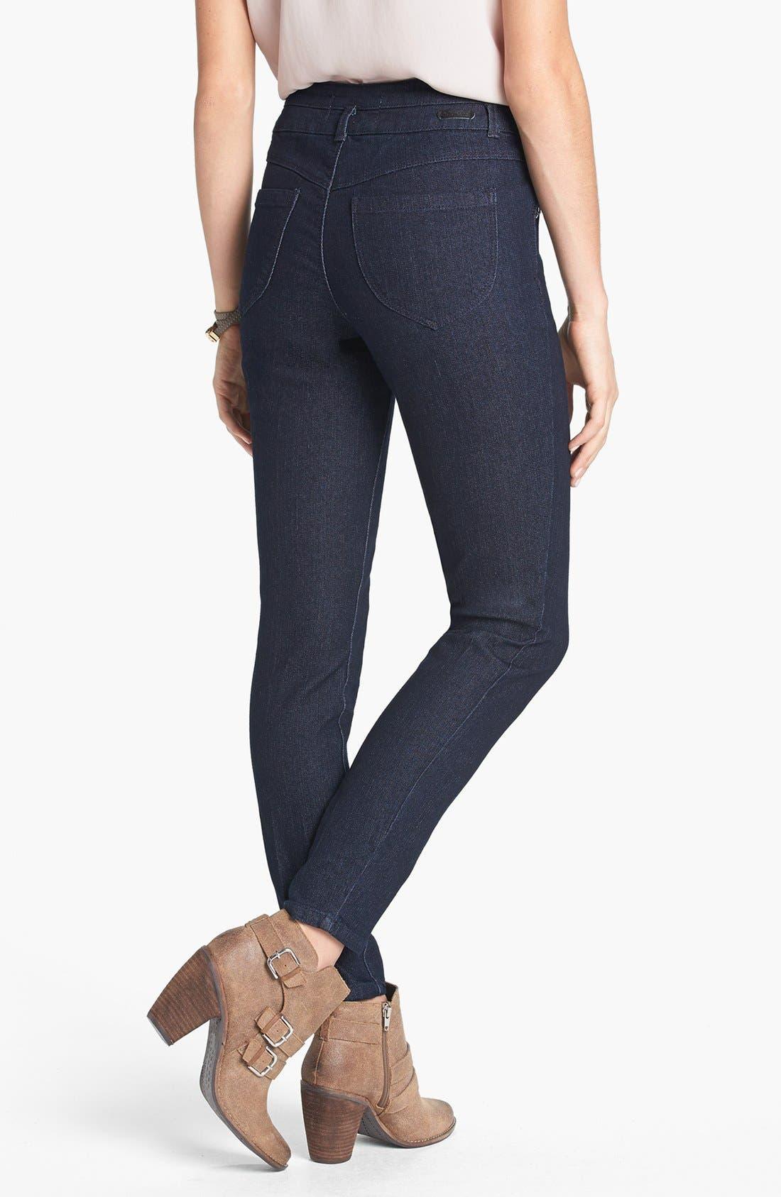 Alternate Image 2  - Jolt High Waist Skinny Ankle Jeans (Juniors) (Online Only)