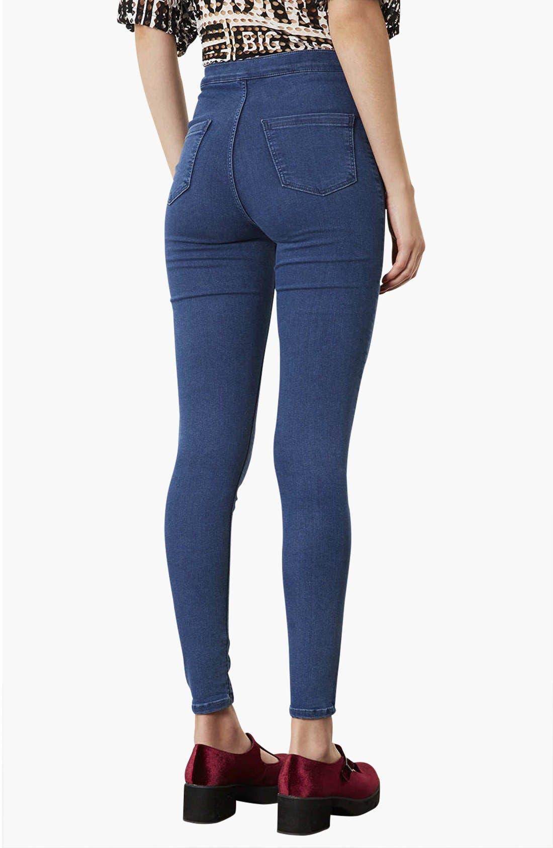 Alternate Image 2  - Topshop Moto 'Joni' High Rise Skinny Jeans (Dark Stone) (Regular, Short & Long)