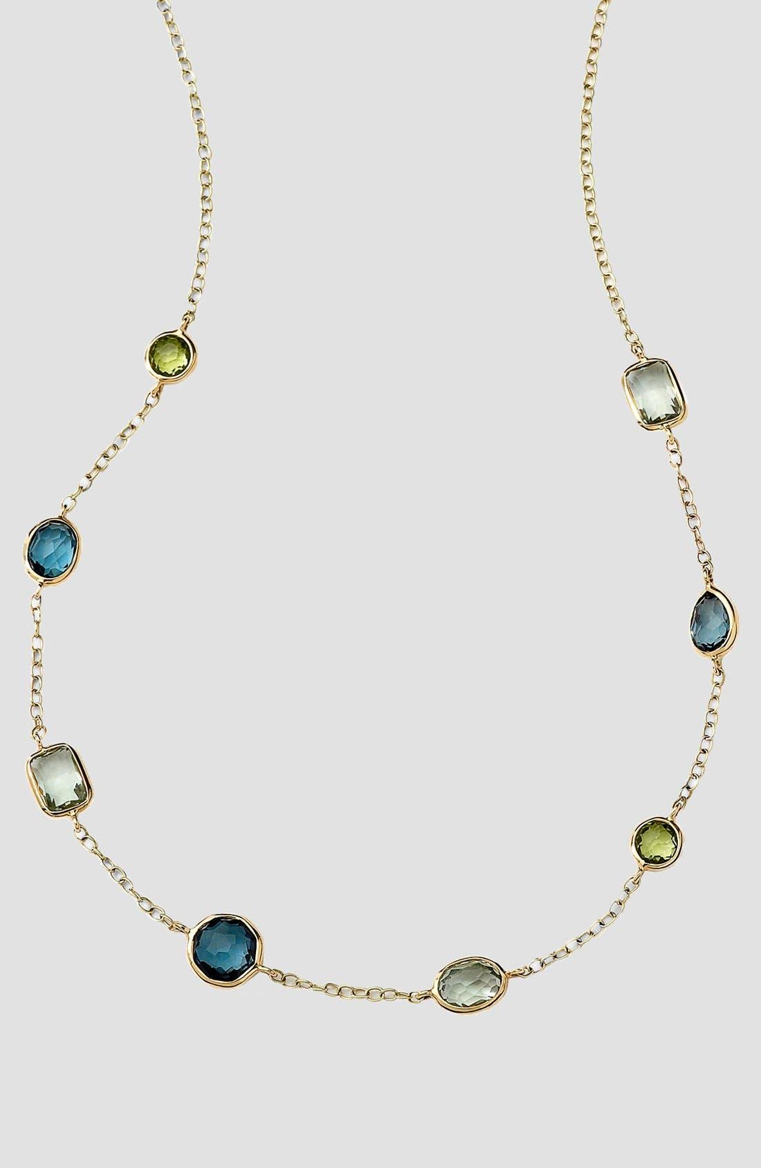 Main Image - Ippolita 'Rock Candy - Mini Gelato' 18k Gold Station Necklace