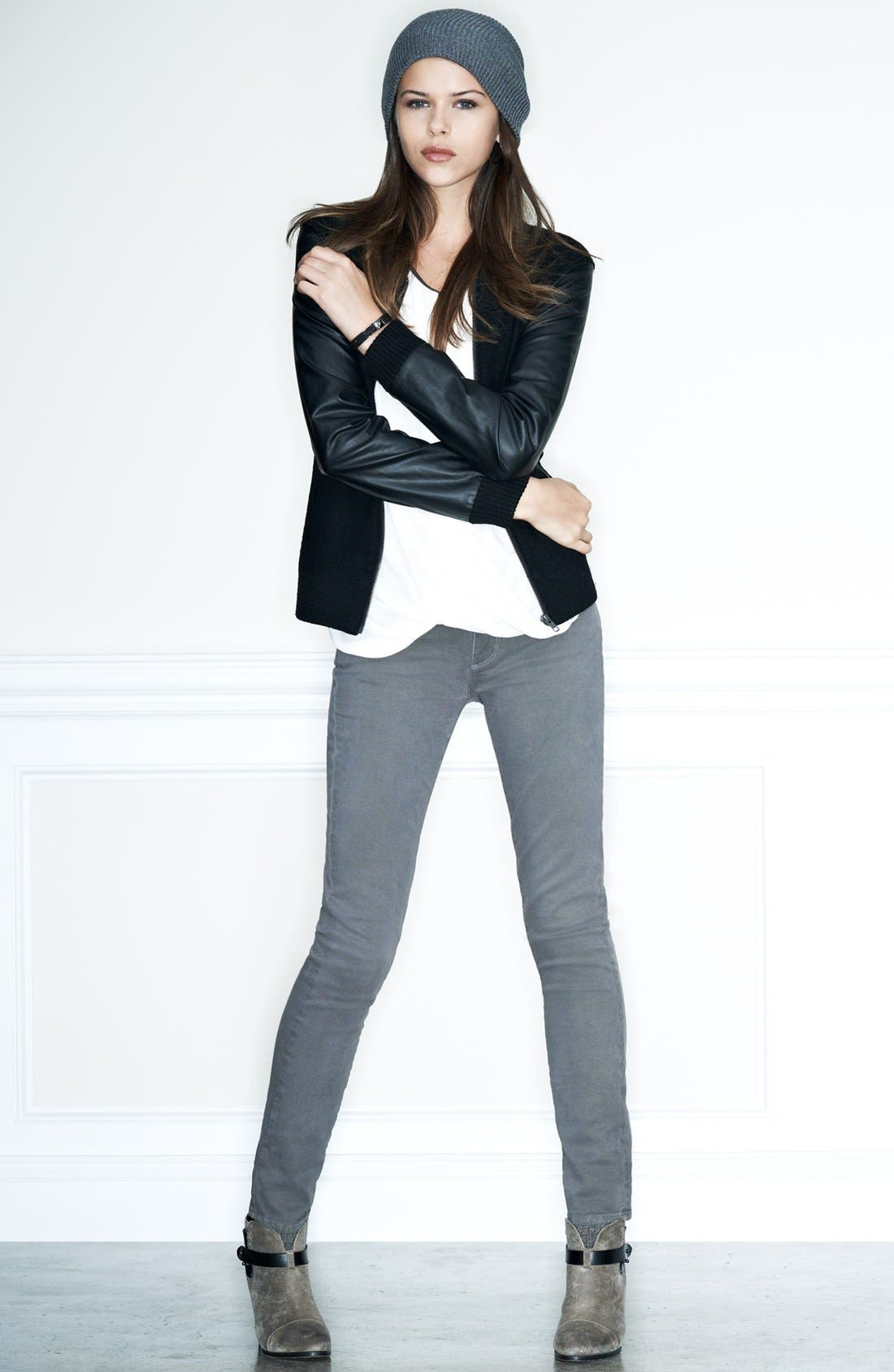 Alternate Image 5  - Paige Denim 'Skyline' Stretch Skinny Jeans (Mobile)