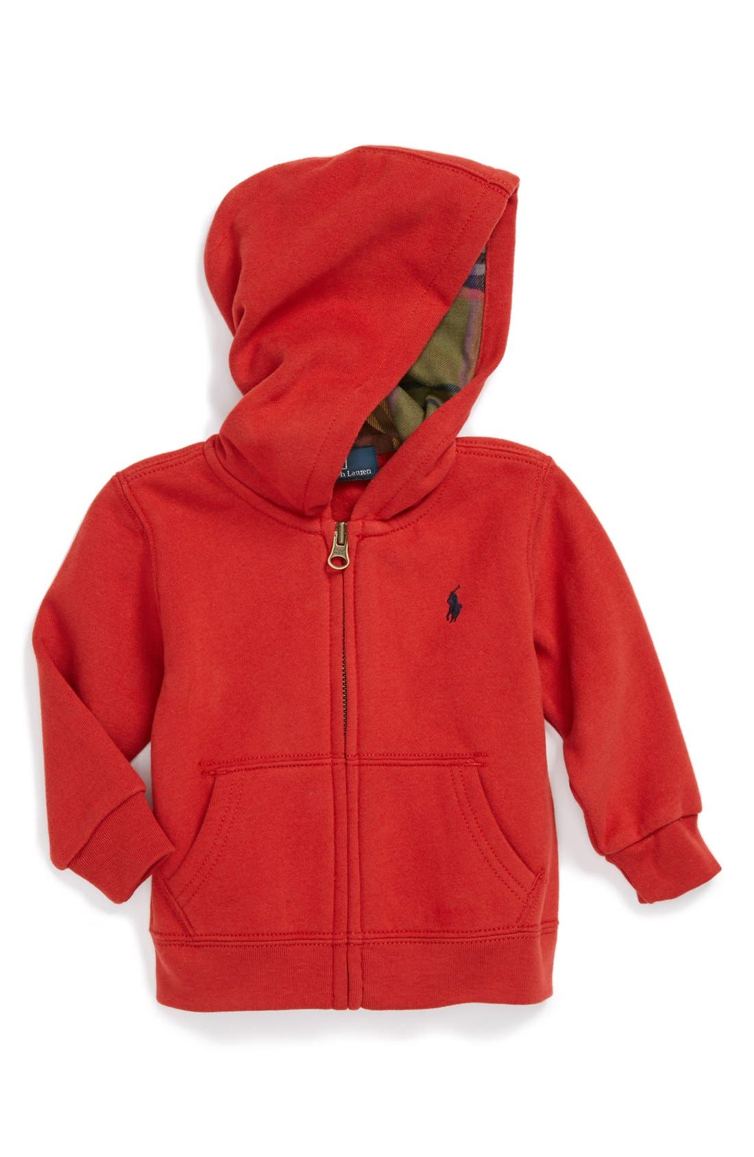 Alternate Image 1 Selected - Ralph Lauren Hoodie (Baby Boys)