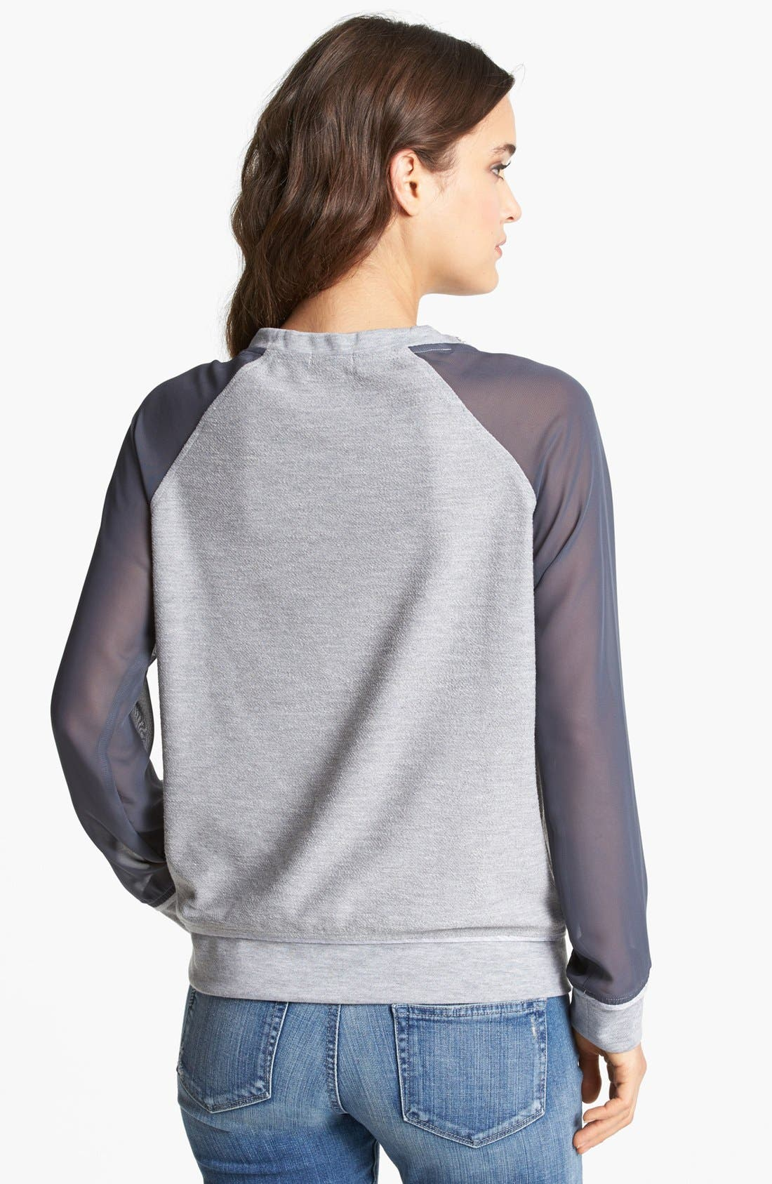 Alternate Image 2  - Gibson Embellished Neck Sweatshirt (Petite)