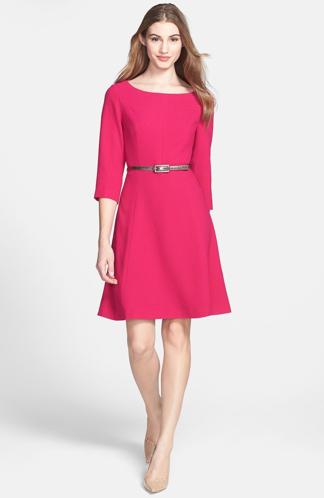 Main Image - Eliza J Crepe A-Line Dress