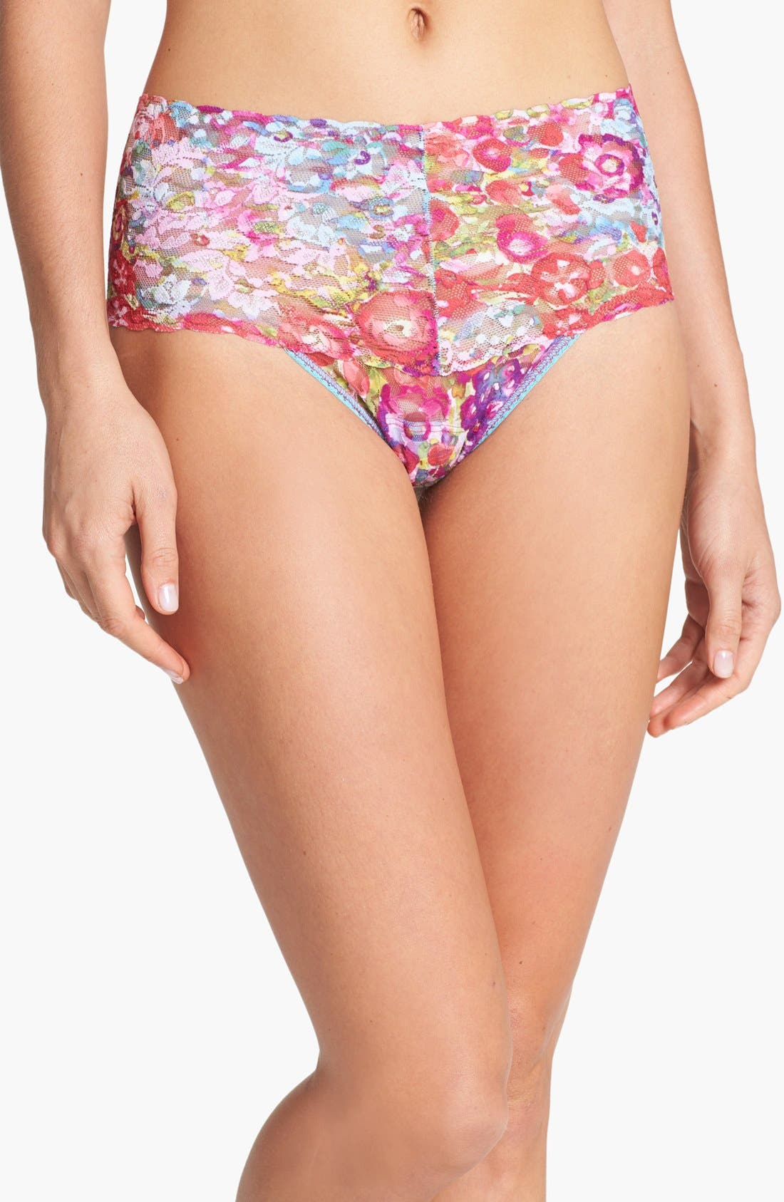 Alternate Image 1 Selected - Hanky Panky 'Millefleur Retro' High Waist Thong