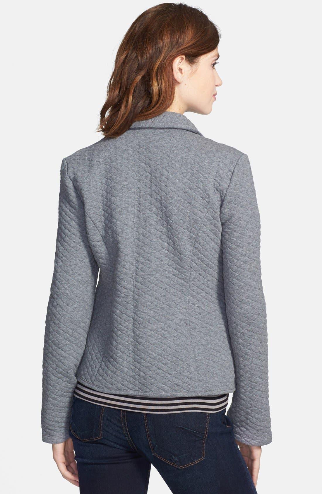 Alternate Image 2  - Caslon® Quilted Cotton Blend Knit Blazer (Regular & Petite)