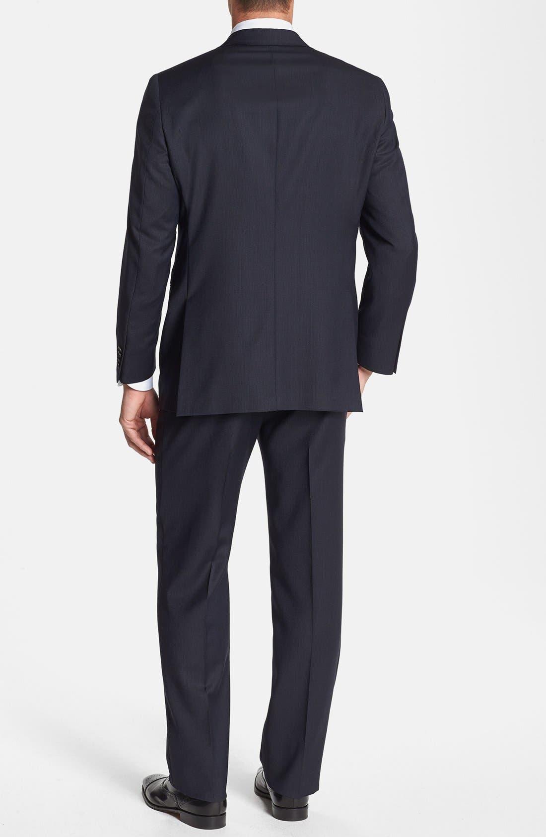 Alternate Image 3  - Hart Schaffner Marx 'New York' Classic Fit Stripe Suit
