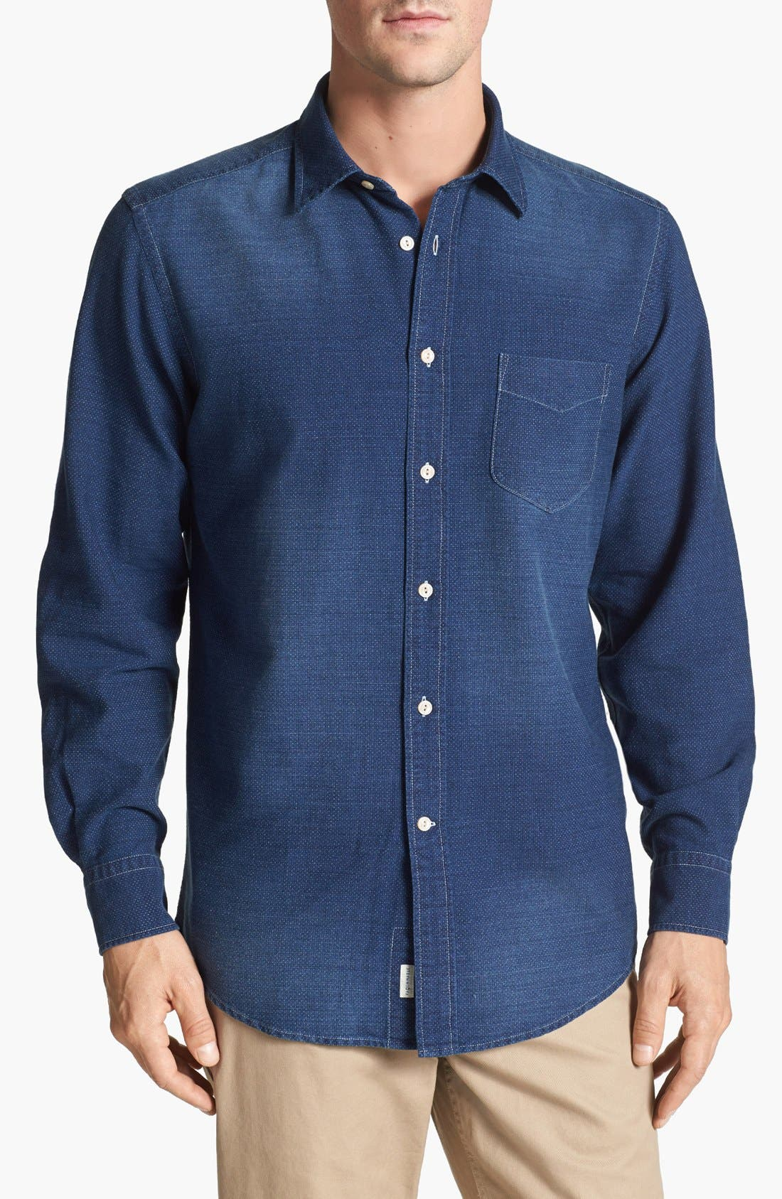 Alternate Image 1 Selected - Façonnable Club Fit Dobby Sport Shirt