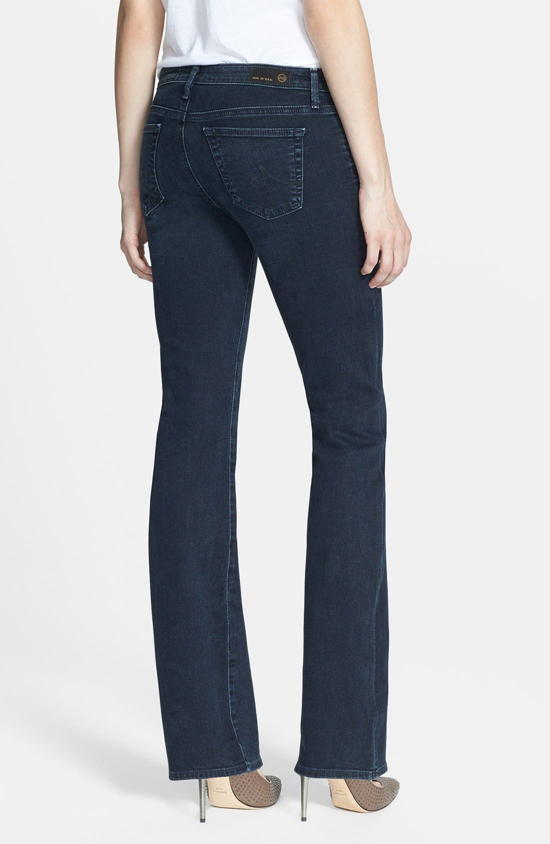 Alternate Image 2  - AG 'Angelina' Bootcut Jeans (Smitten) (Petite)