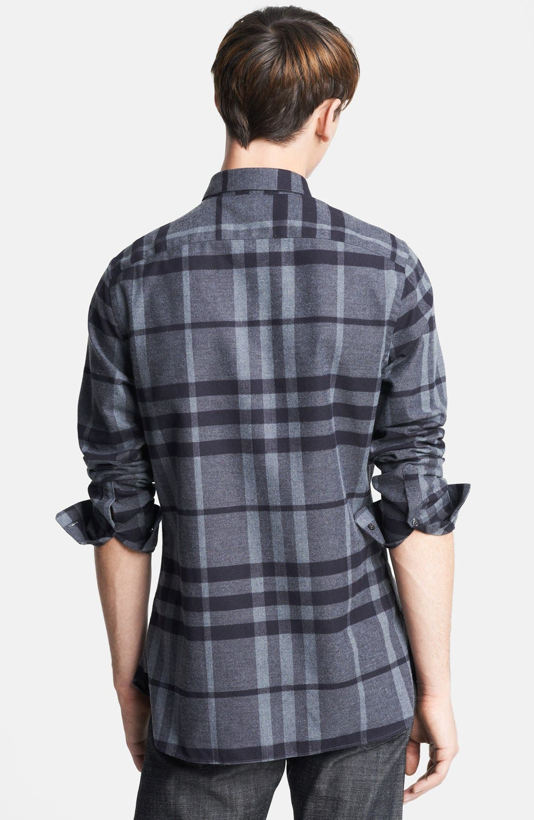 Alternate Image 2  - Burberry London Check Flannel Shirt