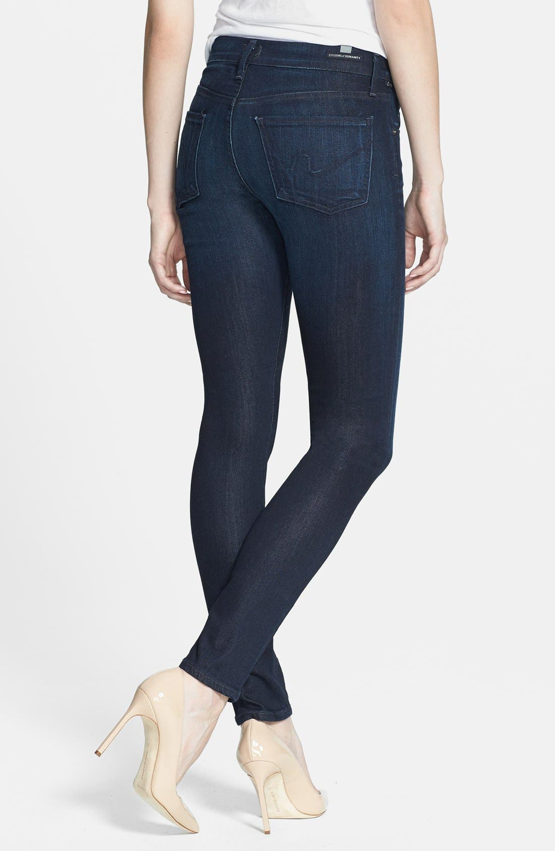 Alternate Image 2  - Citizens of Humanity Ultra Skinny Jeans (Space)