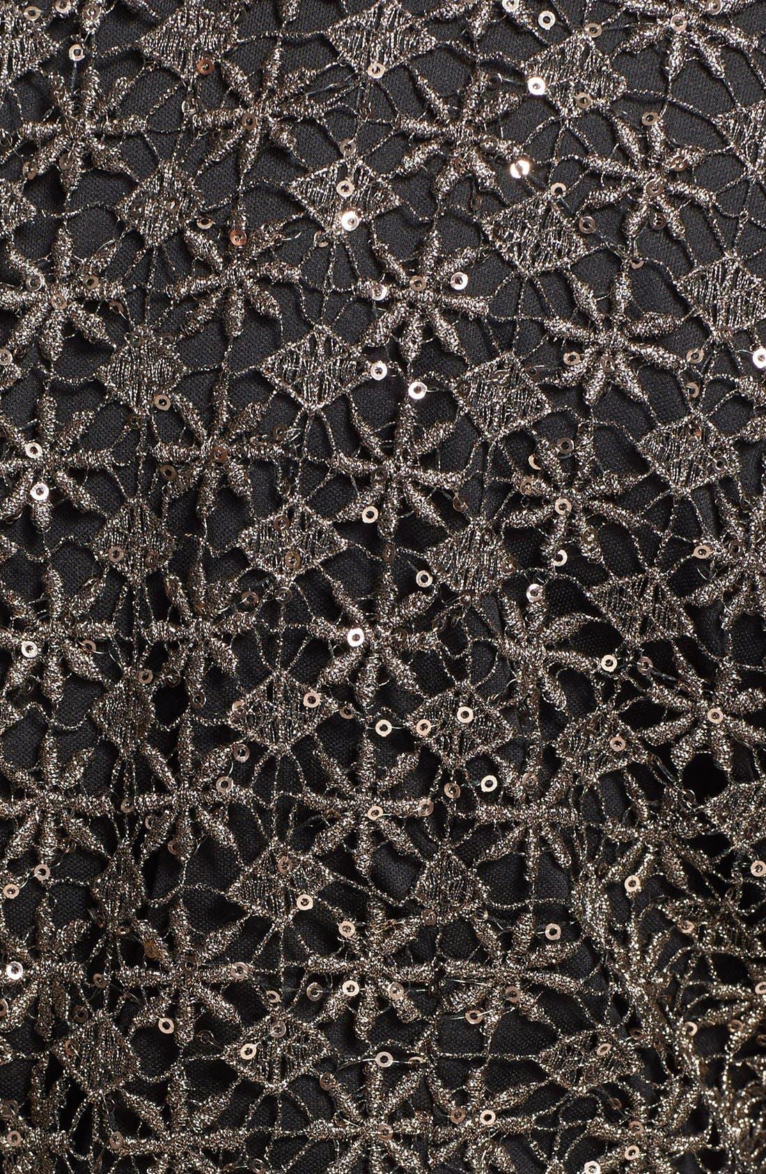 Alternate Image 3  - Alex Evenings Embellished Lace Faux Wrap Blouse (Plus Size)