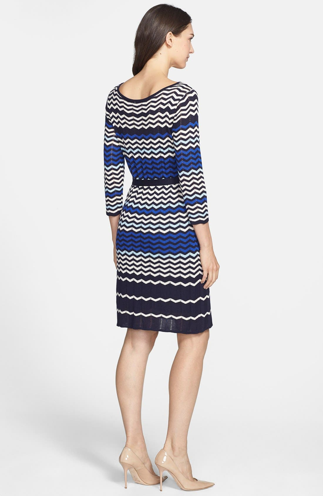 Alternate Image 3  - Taylor Dresses Zigzag Knit Sweater Dress