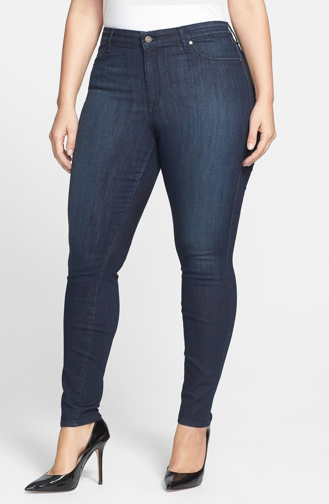 Main Image - CJ by Cookie Johnson 'Joy' Legging Style Stretch Jeans (Kahana) (Plus Size)