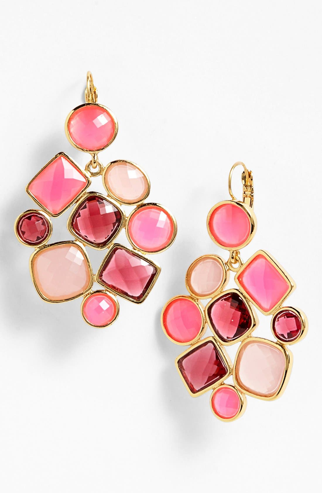 Main Image - kate spade new york 'microfacet' stone cluster chandelier earrings (Special Purchase)