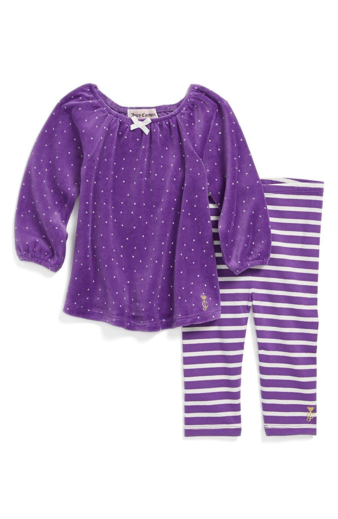 Main Image - Juicy Couture Top & Leggings (Baby Girls)