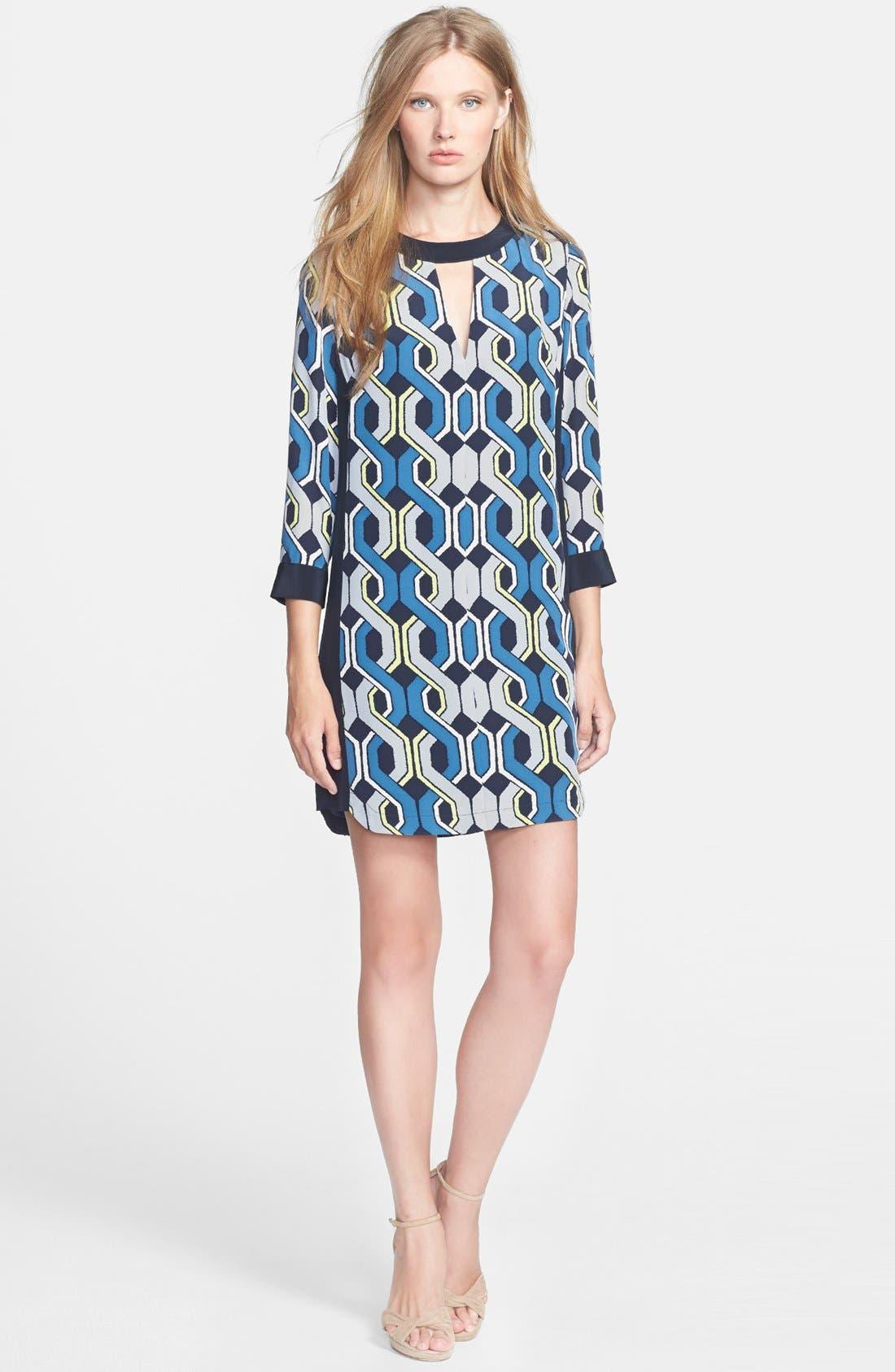 Alternate Image 1 Selected - Trina Turk 'Darcie' Print Silk Shift Dress