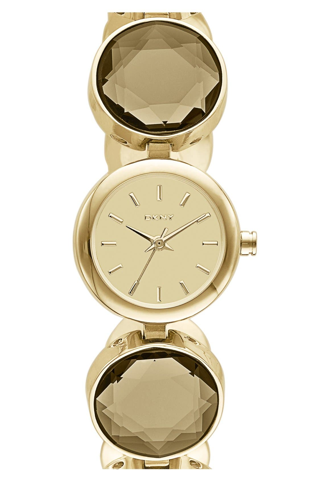 Alternate Image 1 Selected - DKNY Round Crystal Bracelet Watch, 20mm