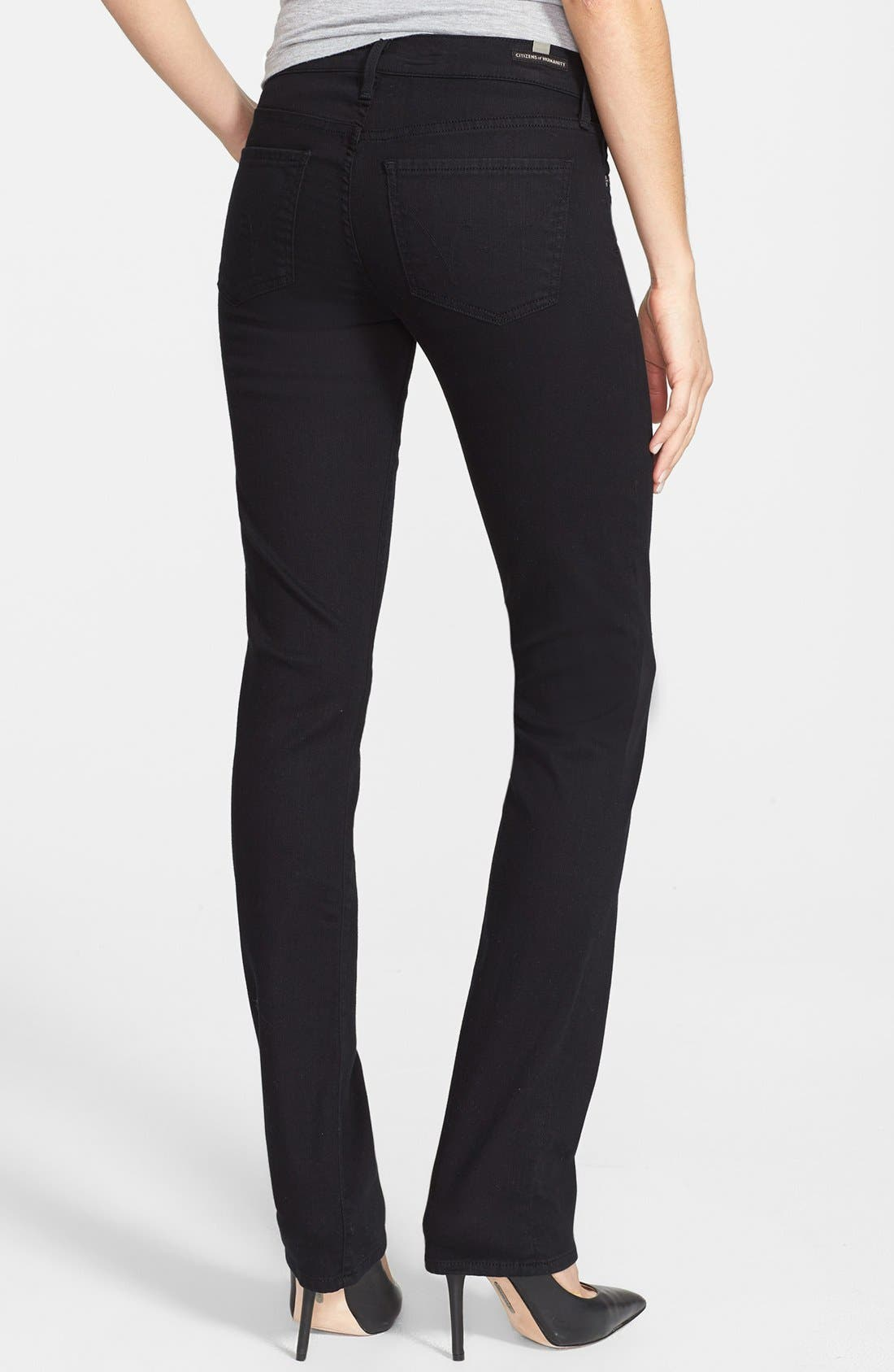 Alternate Image 2  - Citizens of Humanity 'Ava' Straight Leg Jeans (Black Diamond)