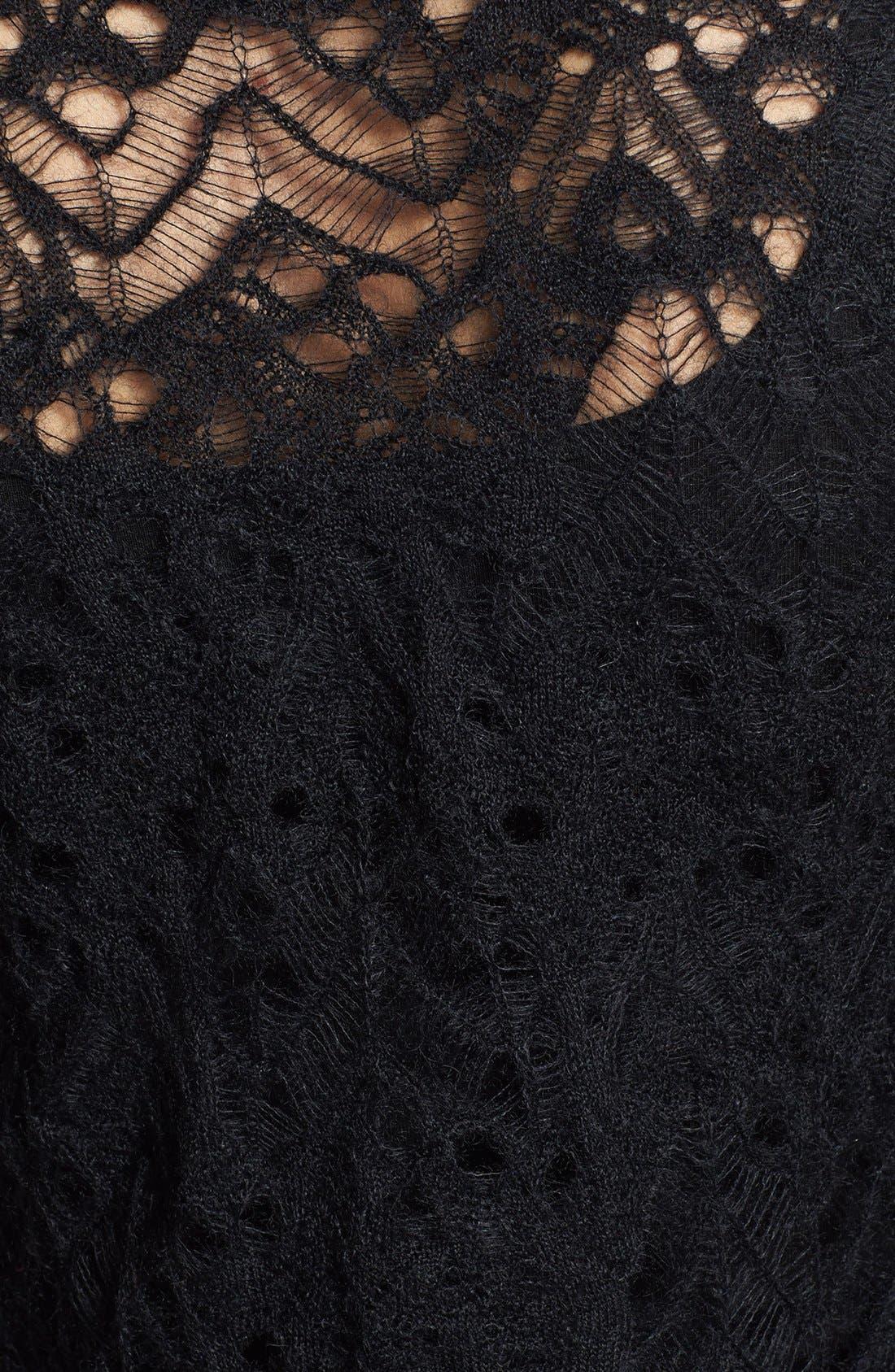 Alternate Image 3  - Eileen Fisher Lace Crochet Cardigan