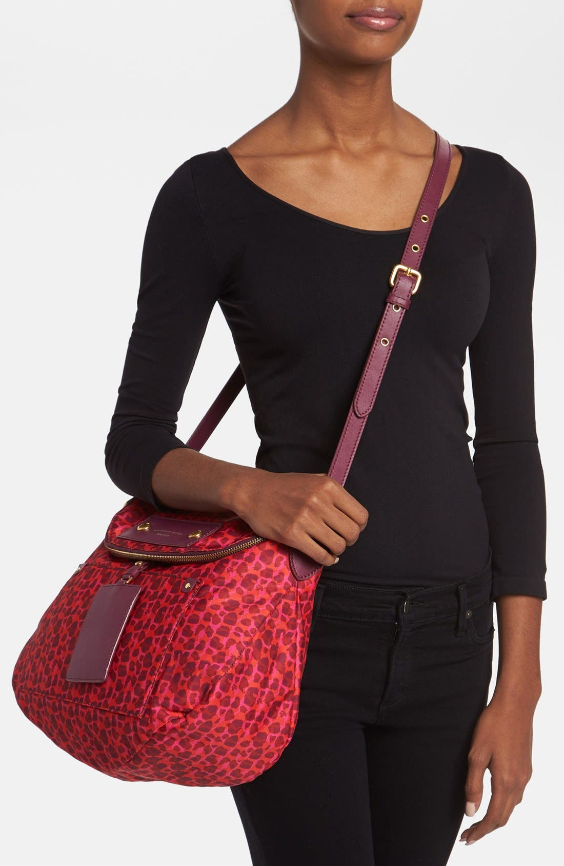 Alternate Image 2  - MARC BY MARC JACOBS 'Preppy Nylon - Printed Sasha' Crossbody Bag