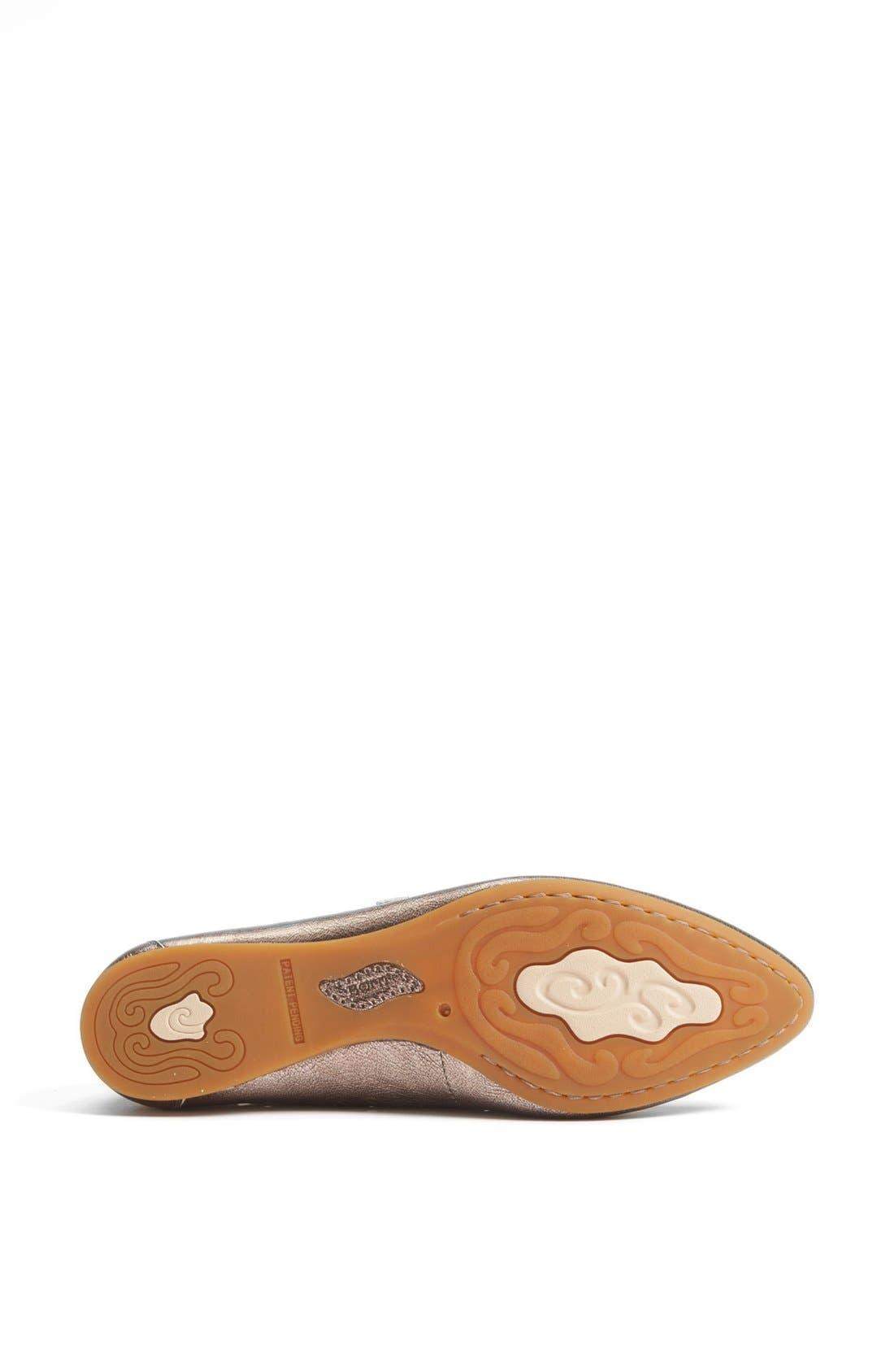 Alternate Image 4  - Børn 'Linney' Leather Flat