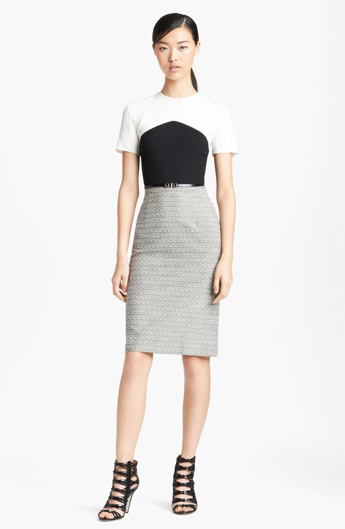 Main Image - Jason Wu Colorblock Crepe & Tweed Dress