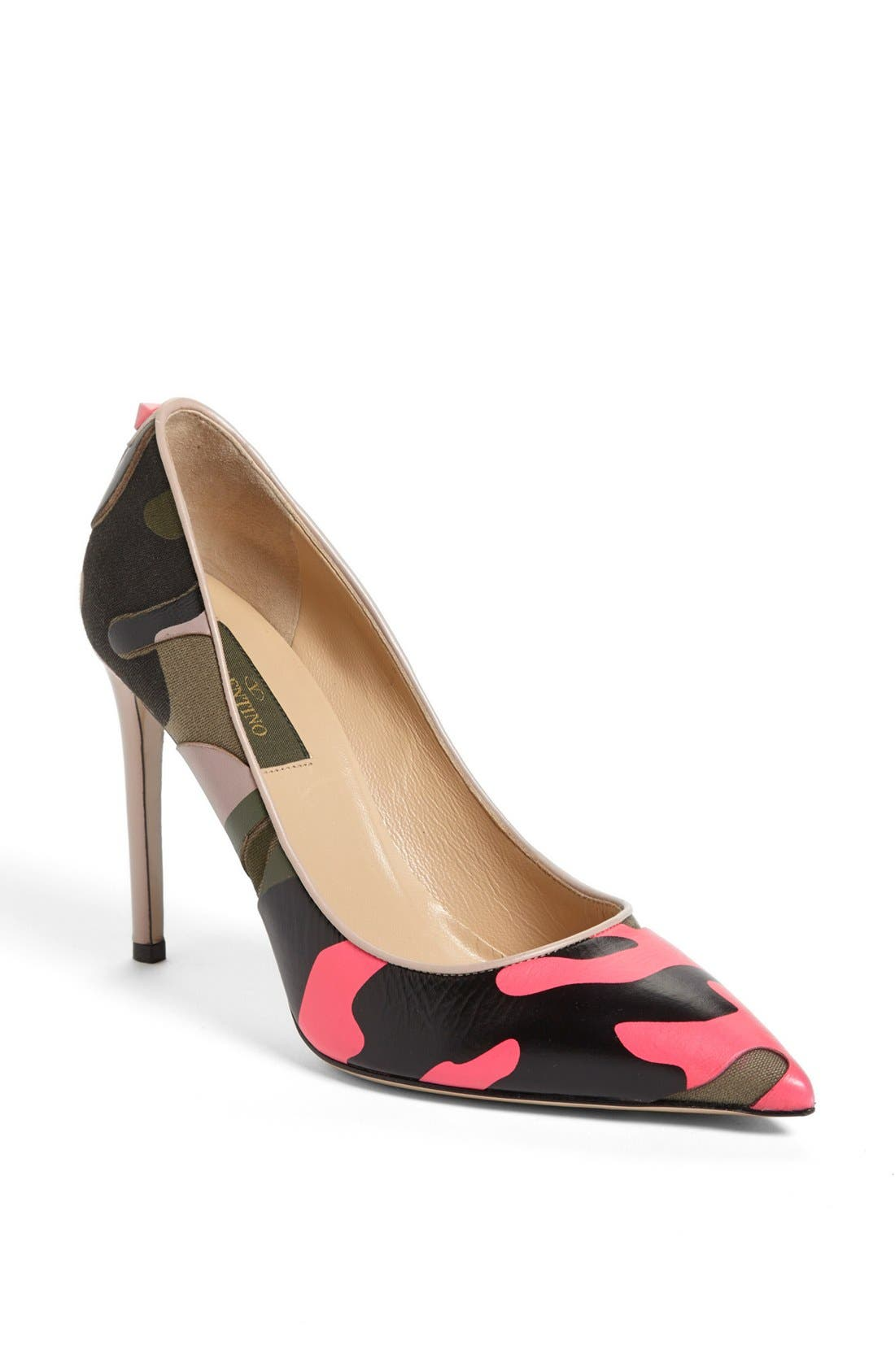Alternate Image 1 Selected - Valentino 'Rockstud' Camo Pump