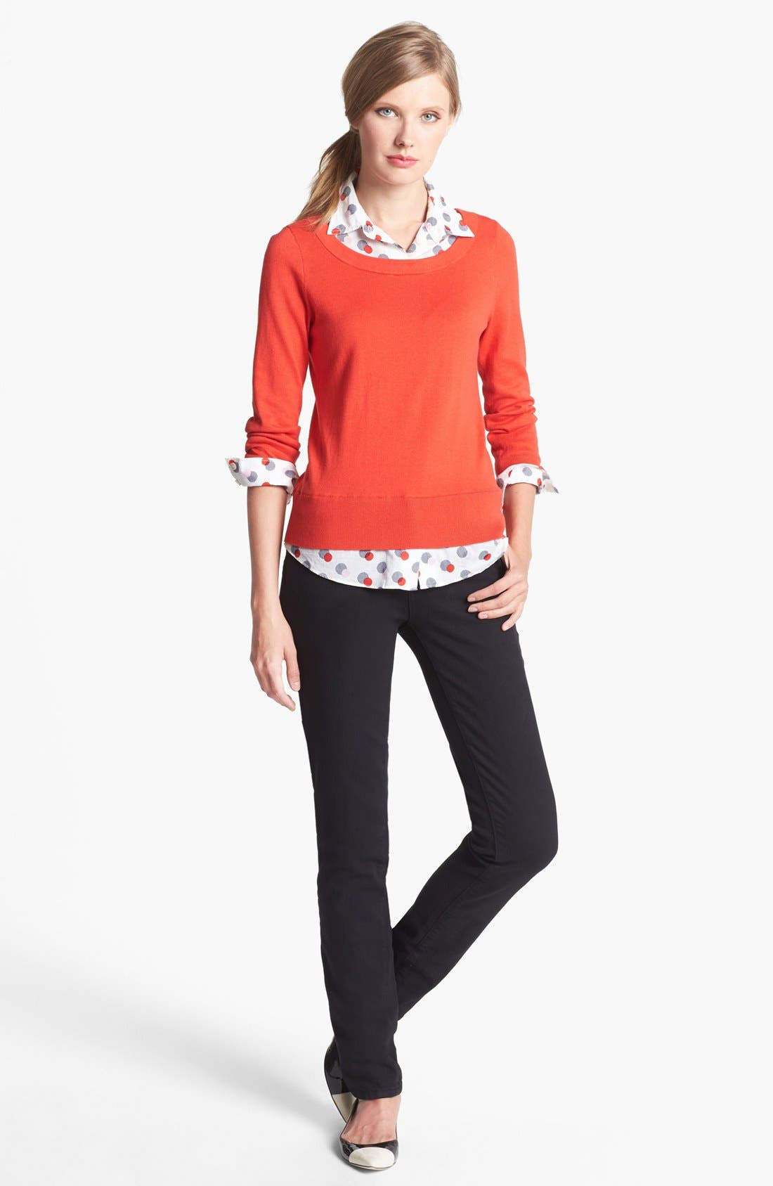Alternate Image 4  - kate spade new york 'yardley' layered sweater