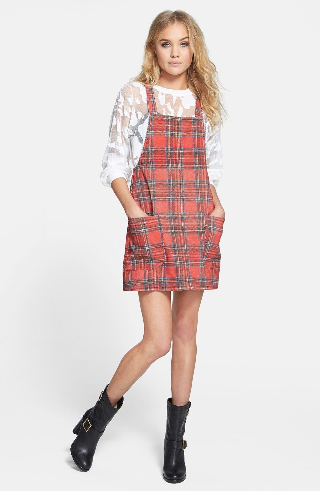 Main Image - MINKPINK 'An Education' Plaid Dress