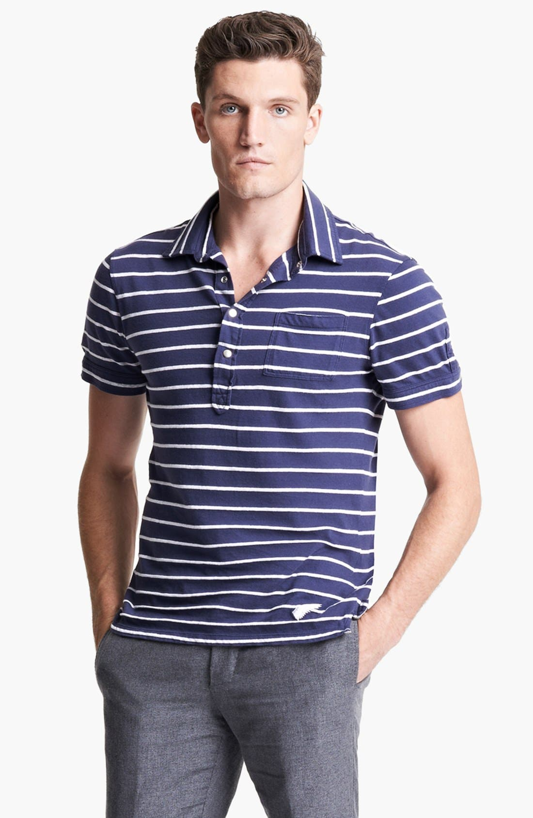 Alternate Image 1 Selected - Michael Bastian Stripe Jersey Polo