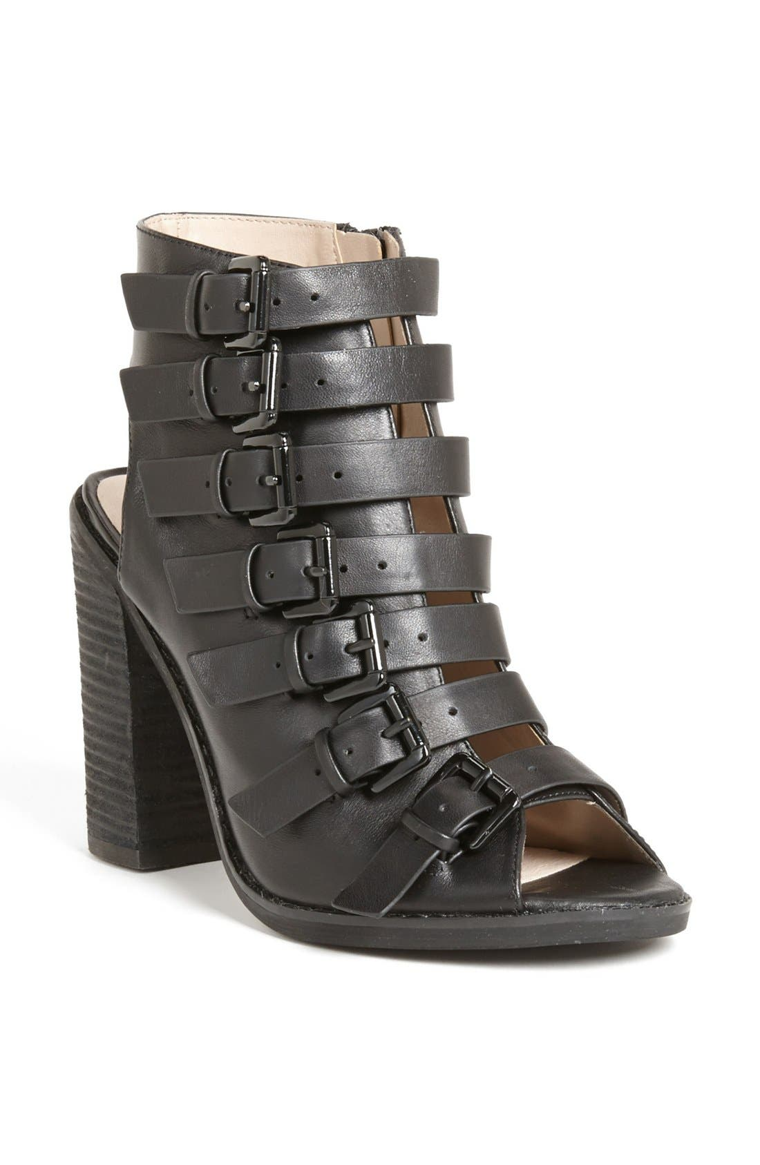 Main Image - Topshop 'Ragged' Multi Buckle Bootie