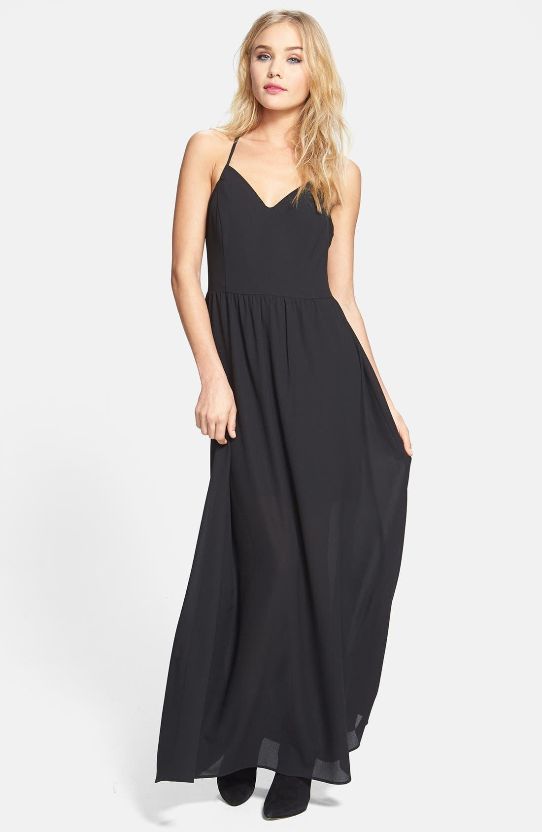 Alternate Image 1 Selected - June & Hudson Strappy Woven Maxi Dress