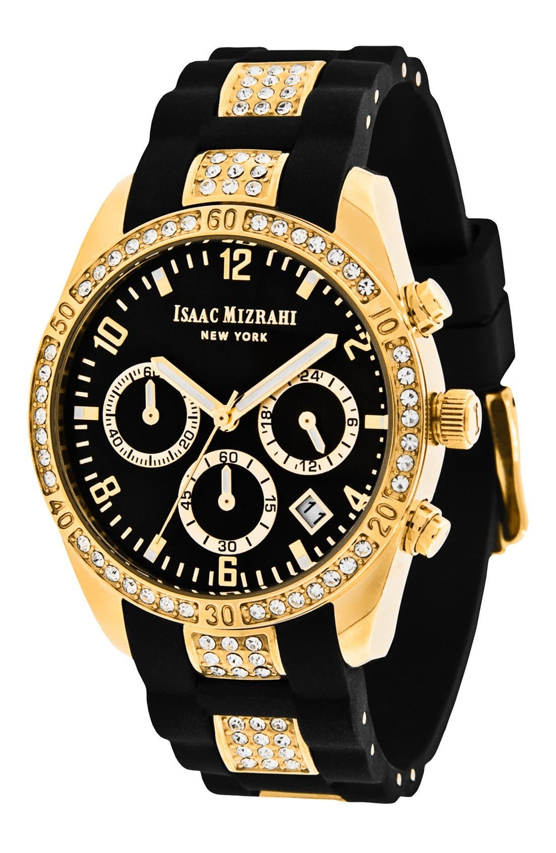 Main Image - Isaac Mizrahi New York Crystal Accent Chronograph Watch, 38mm