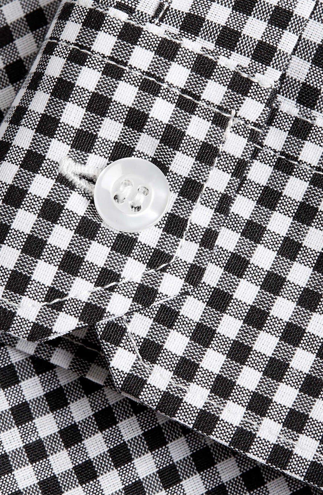Alternate Image 3  - Topman Slim Fit Gingham Shirt