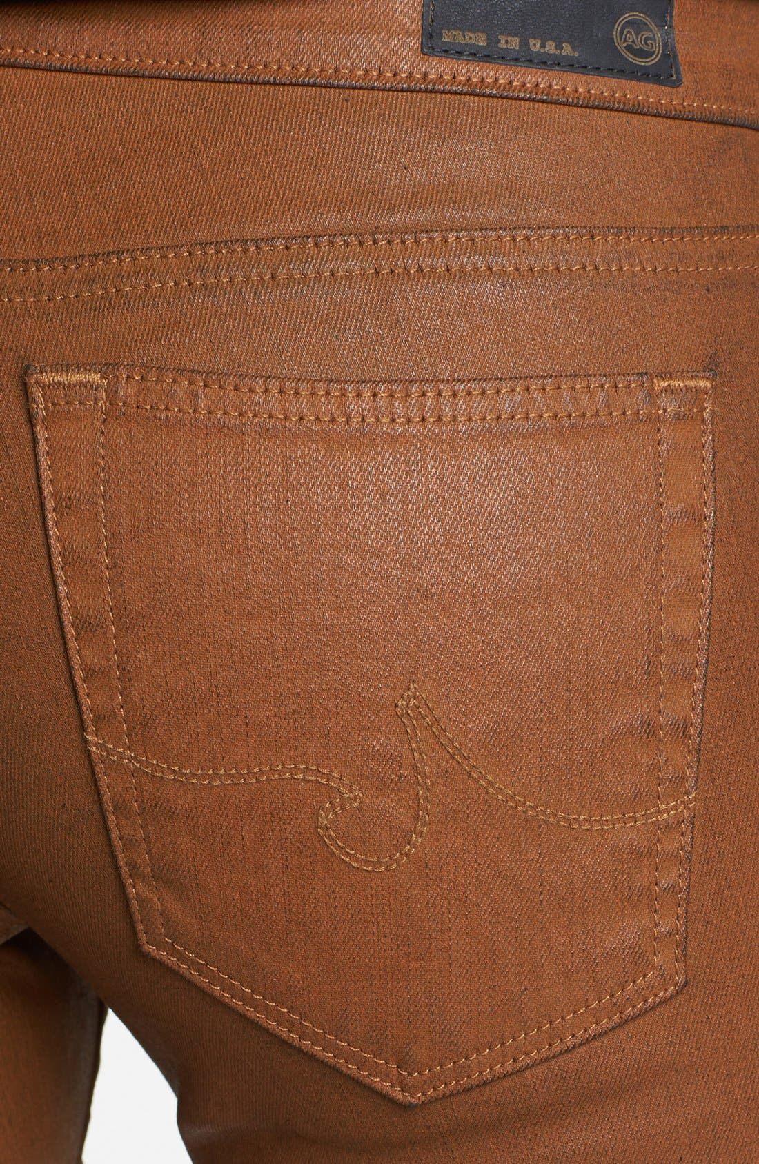 Alternate Image 3  - AG 'The Absolute Legging' Coated Skinny Jeans (Bear Bee)
