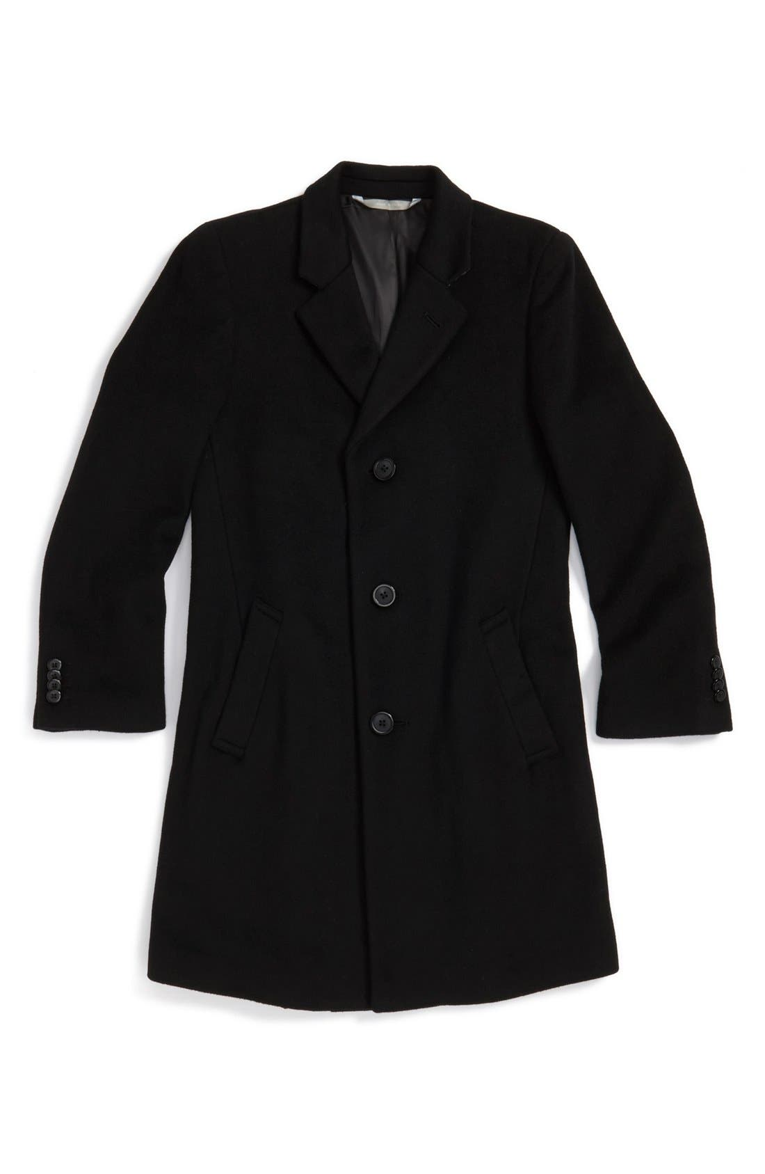 Alternate Image 1 Selected - Nordstrom Wool Blend Topcoat (Big Boys)