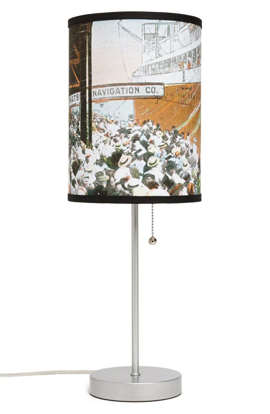 Alternate Image 1 Selected - LAMP-IN-A-BOX 'Honolulu, Hawaii' Postcard Print Lamp