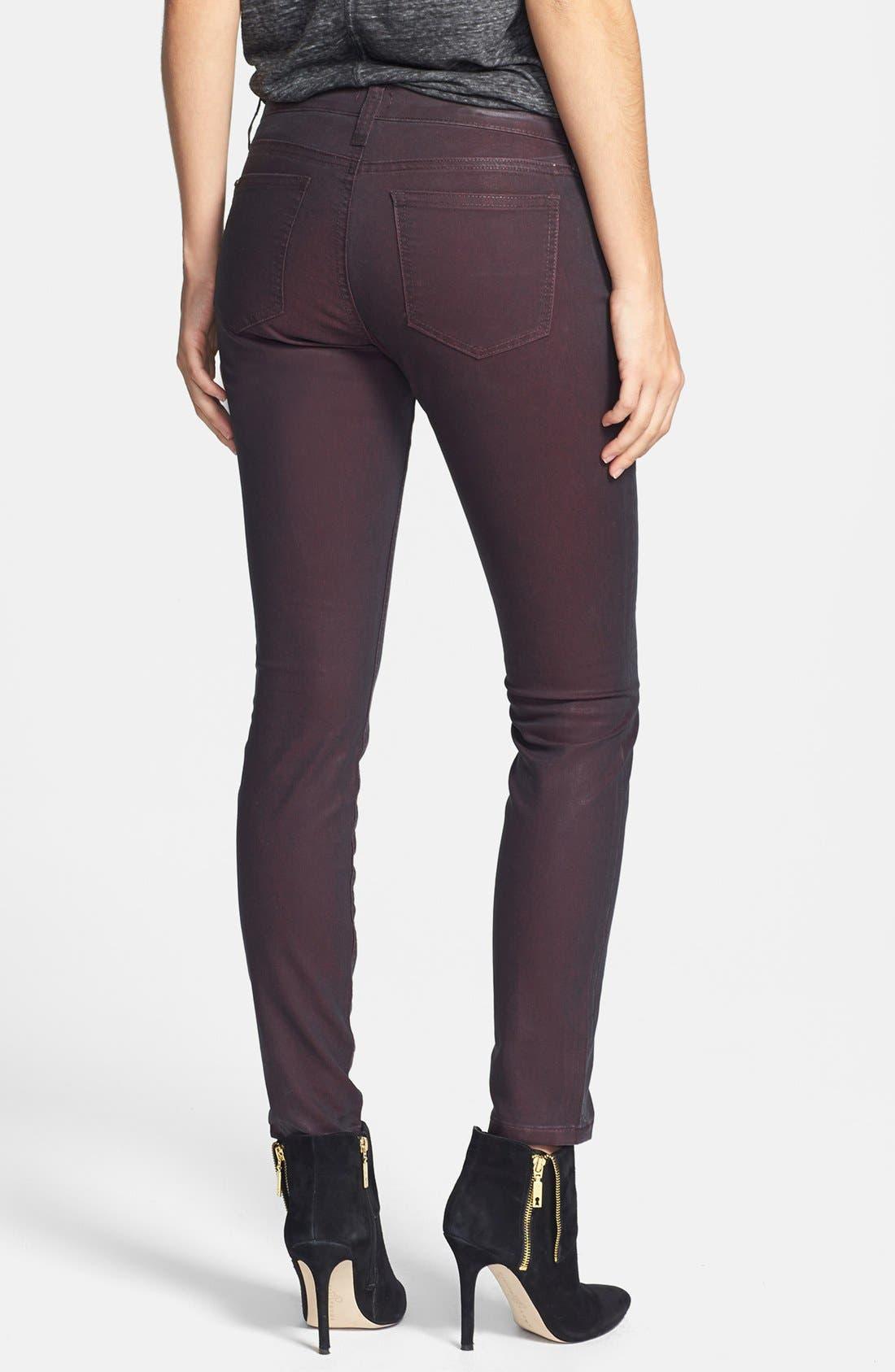 Alternate Image 2  - edyson Coated Skinny Jeans