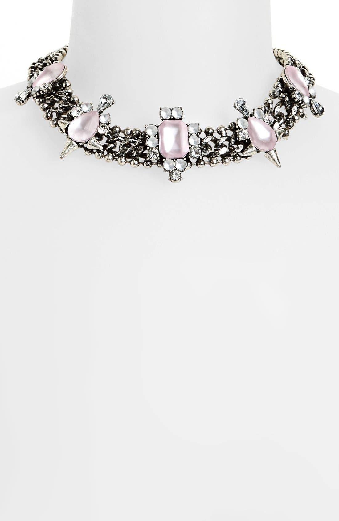 Alternate Image 1 Selected - Topshop Embellished Collar Necklace