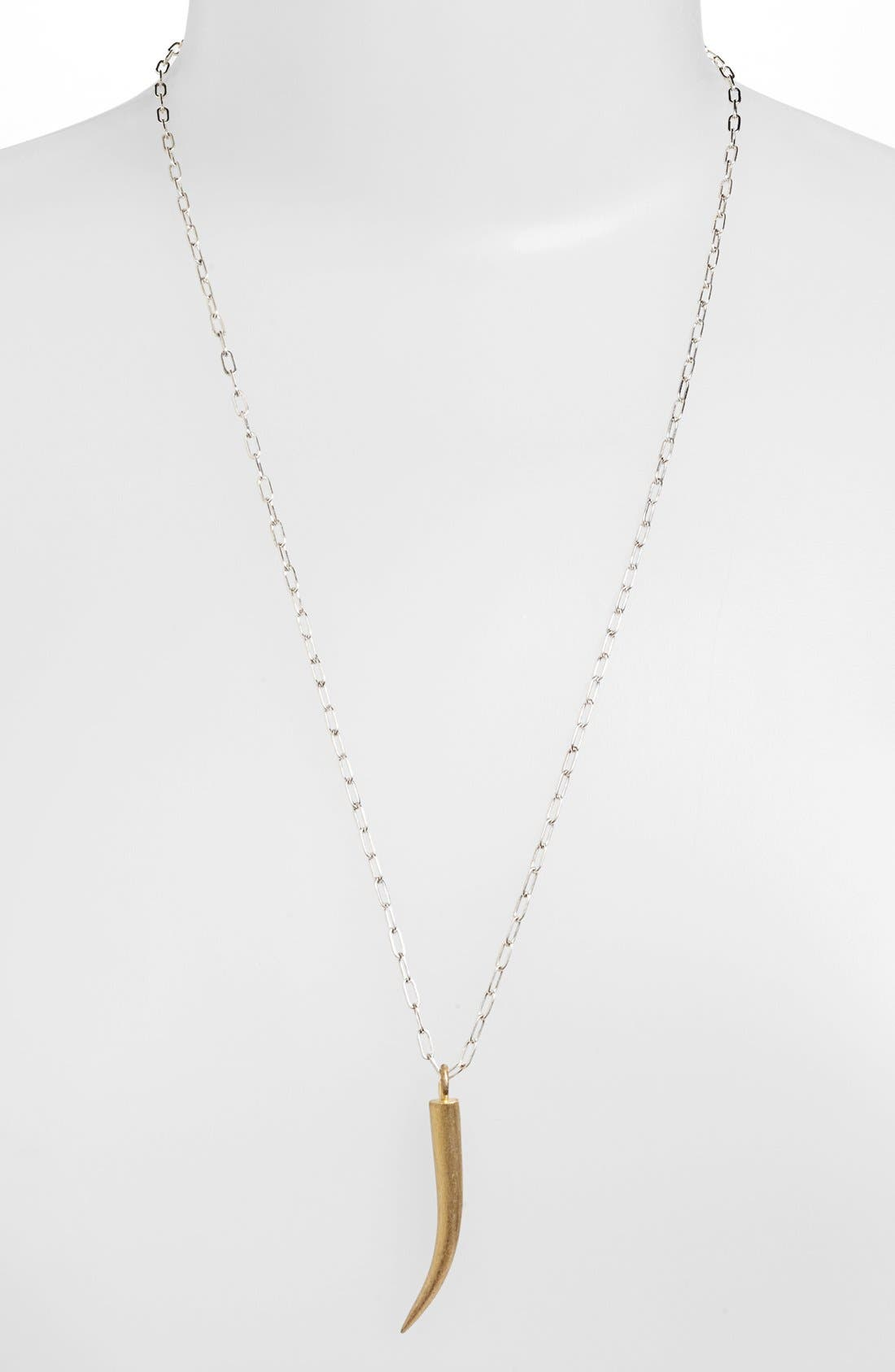 Alternate Image 1 Selected - Adina Reyter Horn Pendant Necklace (Online Only)