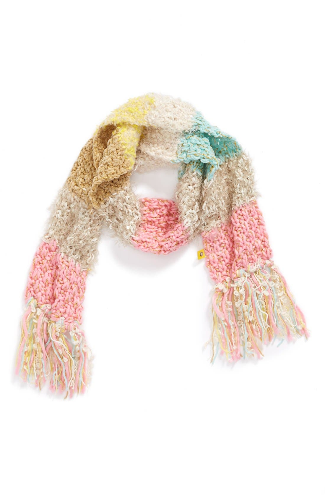 Main Image - Peace of Cake Knit Scarf (Girls)
